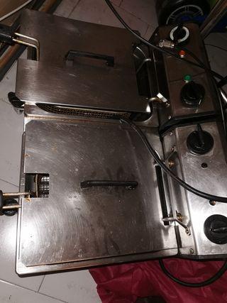 freidora doble eléctrica