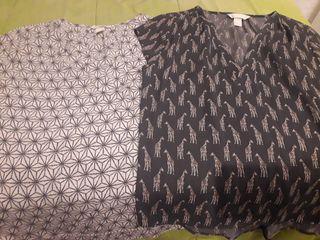 Blusas estampadas 2x1