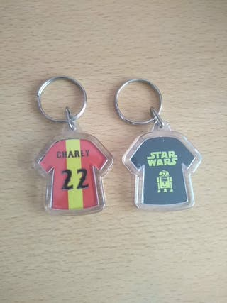 Llaveros Star Wars y nombre Charly