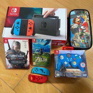 Nintendo Switch con 7 juegos + Accesorios +..