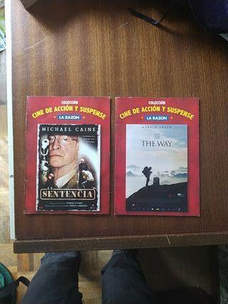 dos dvds películas la sentencia y the way cine