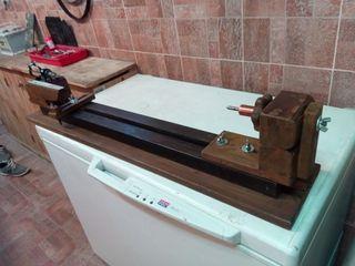 Torno casero accesorio para tornear madera