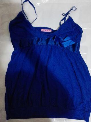camiseta talla L azul marino mujer