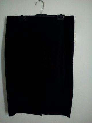 Falda tubo midi