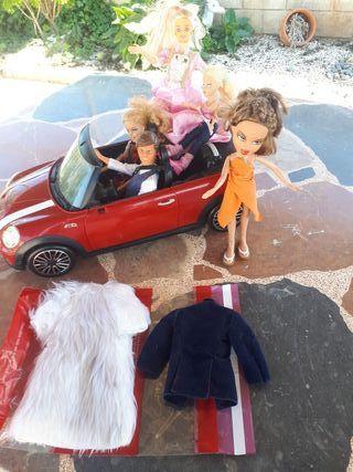 Lote barbie, Ken vintage y Brad, con un abrigo d