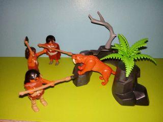 playmobil lote cazadores prehistoria
