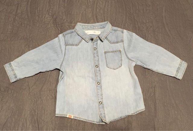 Camiseta vaquera bebé niño 6-9 meses NUEVO