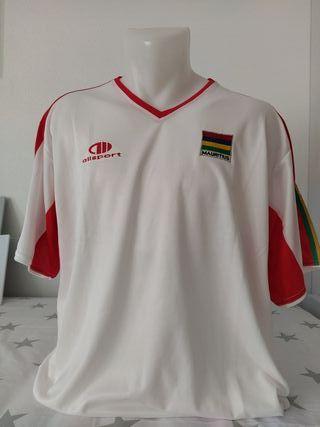Camiseta fútbol Islas Mauricio 2007 away. Talla M