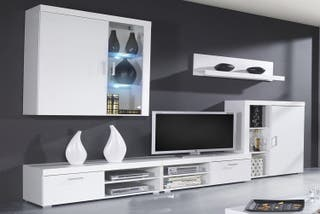 Mueble comedor salon moderno, vitrina con Leds,