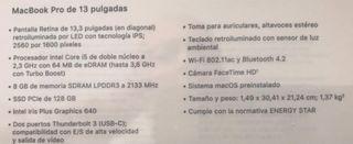 Macbook pro 13 pulgadas retina