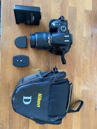 Camara fotos Nikon D5100 con objetivo VR 18-55