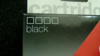 Cartucho tinta Negra sin estrenar