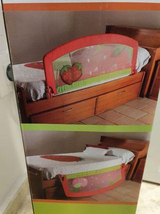Barrera de cama abatible y desmontable