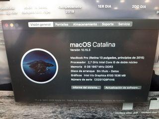 macbook pro retina 13 pulgadas 2015