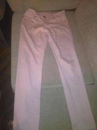 vaqueros color rosa claro talla 40 elastizado