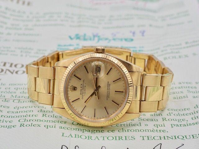 Rolex Oyster Perpetual Date de Oro Amarillo