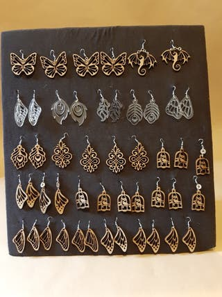 Arracadas aretes artesanales