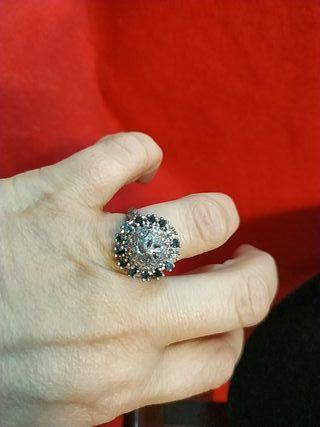 anillo de plata antiguo talla antigua