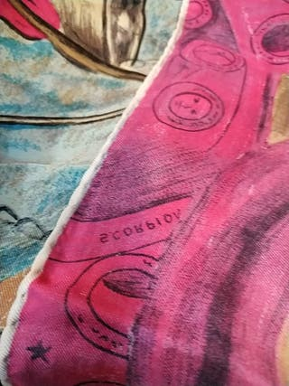 maravilloso pañuelo de ponsa.años 60 tipo dali