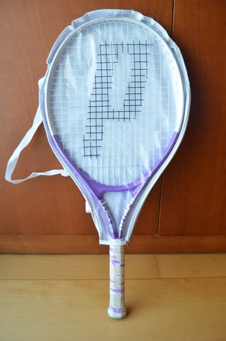 Raqueta de tenis junior con funda