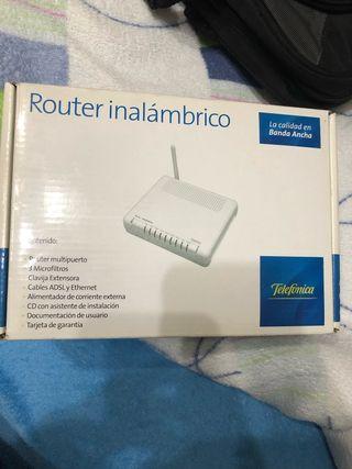 Router inalambrico telefonica a estrenar
