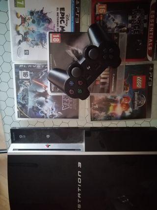 Se vende ps3 con mando y juegos de psp3