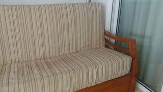 Sofá cama de 1,30 con cama auxiliar bajo sofá