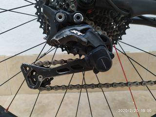 desviador y pulsador trasero shimano xt M8000