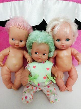 Barriguitas verde y rosa de famosa y muñeca Jesmar