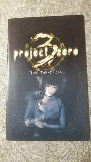 MANUAL PROJECT ZERO 3 PS2 PLAYSTATION 2 SONY