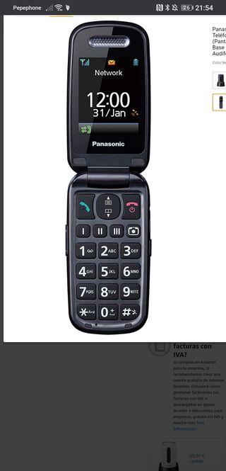 Panasonic KX-TU466EXBE - Teléfono Móvil para Mayor