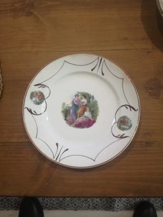 Plato porcelana antiguo La Asturiana