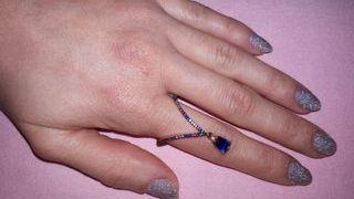 anillo multicolor plata 925 baño oro rosa