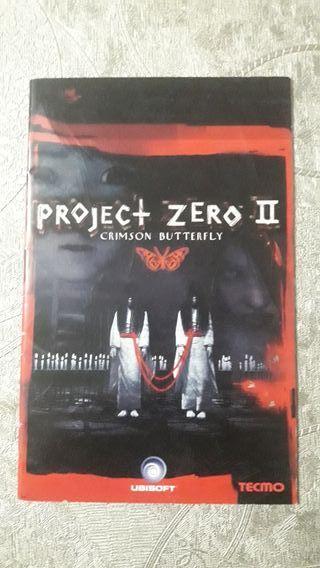 MANUAL PROJECT ZERO II PS2 PLAYSTATION 2 SONY
