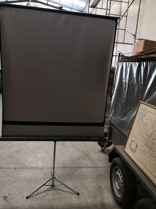Caballete pantalla proyector cine,