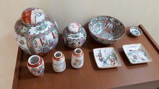 Conjunto cerámica colores.