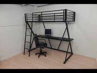 Cama alta litera con escritorio