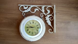 Reloj doble vintage envejecido pared