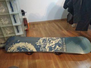tabla snowboard+ fijaciones Burton