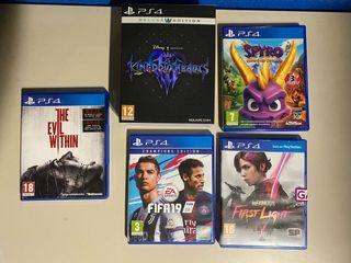 Juegos PS4 desde 10€ a 30€. TODOS POR 60 euros