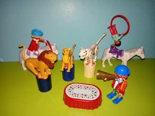 playmobil lote circo payasos y accesorios