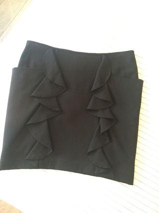 Falda negra MAJE talla 34