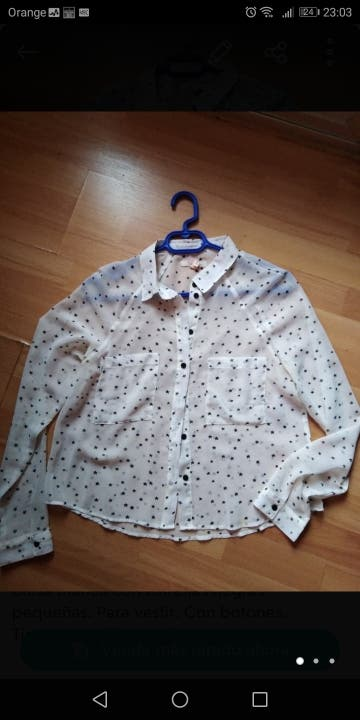 blusa camisa blanca de estrellas