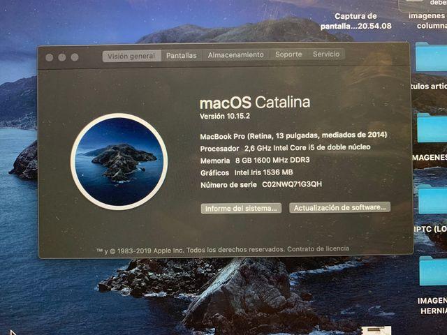 MacBook Pro retina 13 (averiado)