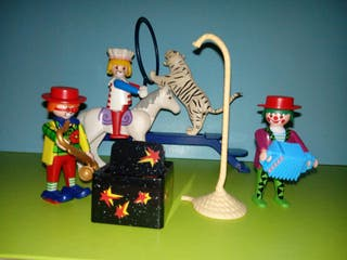 playmobil lote circo payasos espectáculo