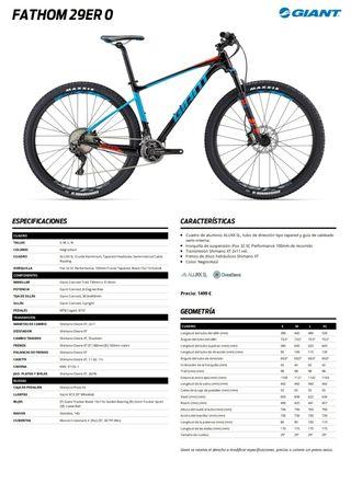 Vendo Bicicleta MTB Giant Fathom 0