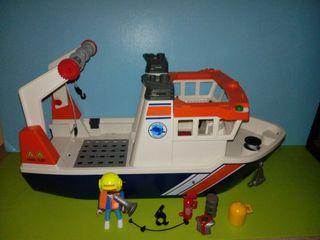 playmobil lote barca Salvamento expedición
