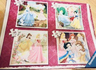 4 puzzles de princesas