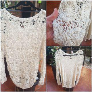 Jersey crochet crudo NUEVO