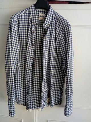 camisa cuadros algodón